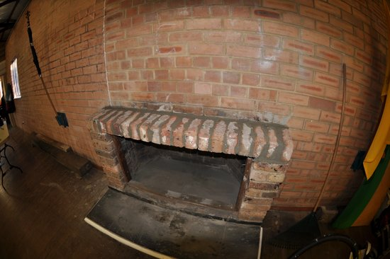 The hall team completely rebuilt the fireplace, lintel can go back on over the weekend.