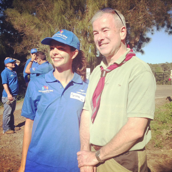 Srima McQuillan (Lend Lease Sponsor) and Andrew Stanner (1st North Sydney Scouts) looking pretty happy :-)