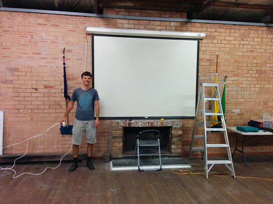Thanks to Bilby for organising the new screen and Canon projector.