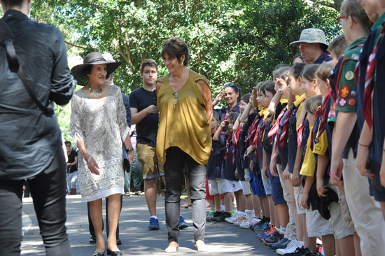 The NSW Governor General, Marie Bashir inspecting our Guard of Honour