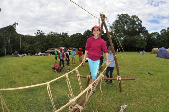 Pioneering is a very traditional Scout activity with ropes, poles and lashings