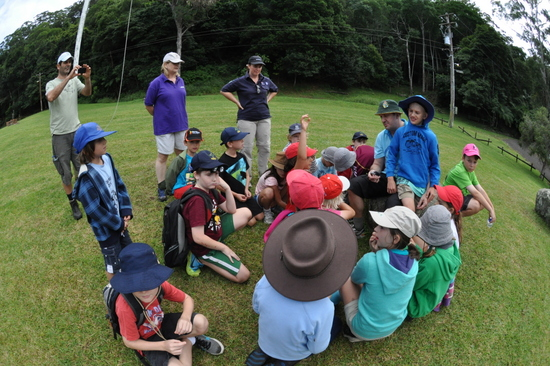 Section meeting before a hike up Mount Kiera