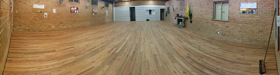 New floor was laid this week